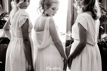 Models: Charlotte Carr, Merel Van Uffelen and Fiona Neal Location: Hotel De La Cité Carcassonne Dress Maker: Ailsa Munro Florist: Sarah Menager Photography: Lisa Allen Hair Stylist: Annette Carr Makeup Artist: Fiona Neal