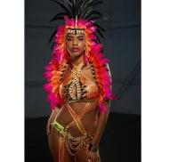 Make-up Designer: Kitty Noofah Make-up Assistants: Fiona Neal and Amber Julie For Bacchanalia UK Masband Notting Hill Carnival 2017 Costume Collection. Designer Kelly Rajpaulsingh Photographer: Jared Duk