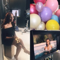 Assisting Caroline Barnes for Max Factors 2017 ad campaign with Rochelle Humes